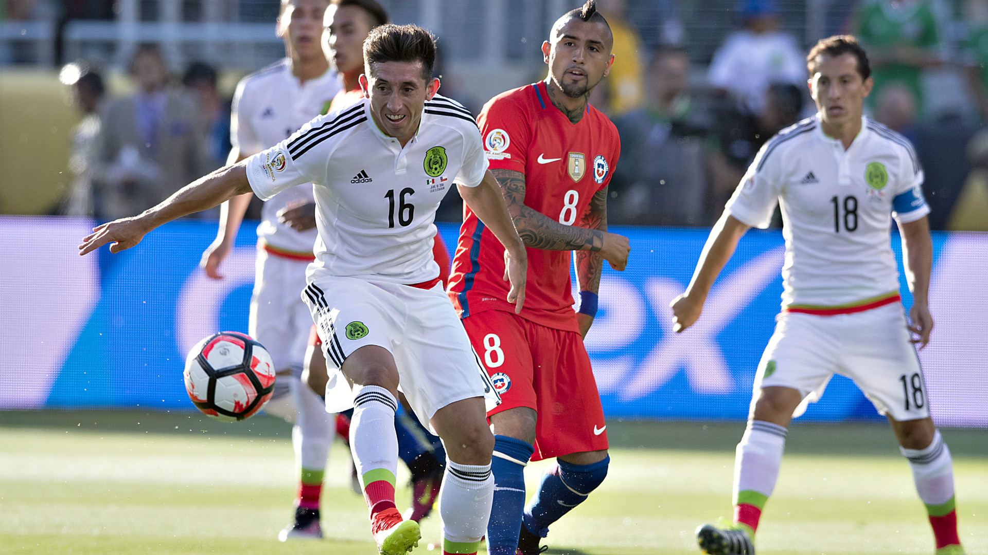 México vs Chile, Copa América, 180616
