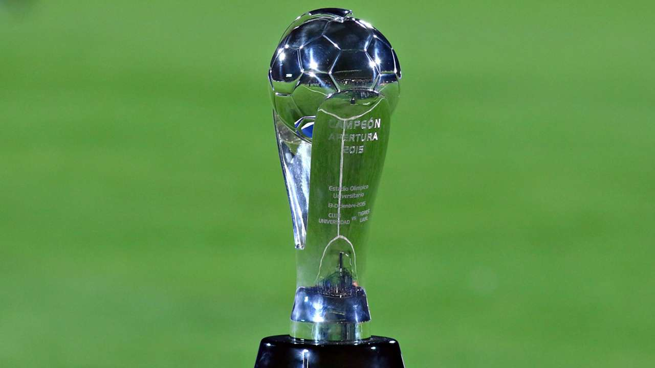 El trofeo de la Liga MX