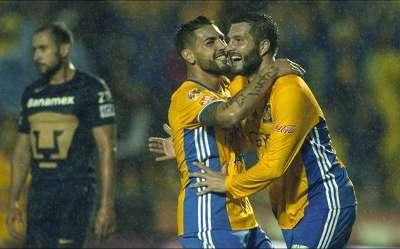 Andy Delort Andre-Pierre Gignac Tigres Liga MX 11262016