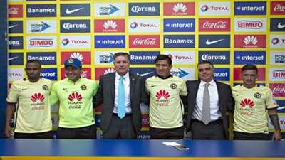 Presentación de William Da Silva, Brian Lozano y Jesús Moreno con América