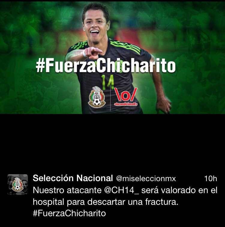 Apoyo a Chicharito en redes sociales