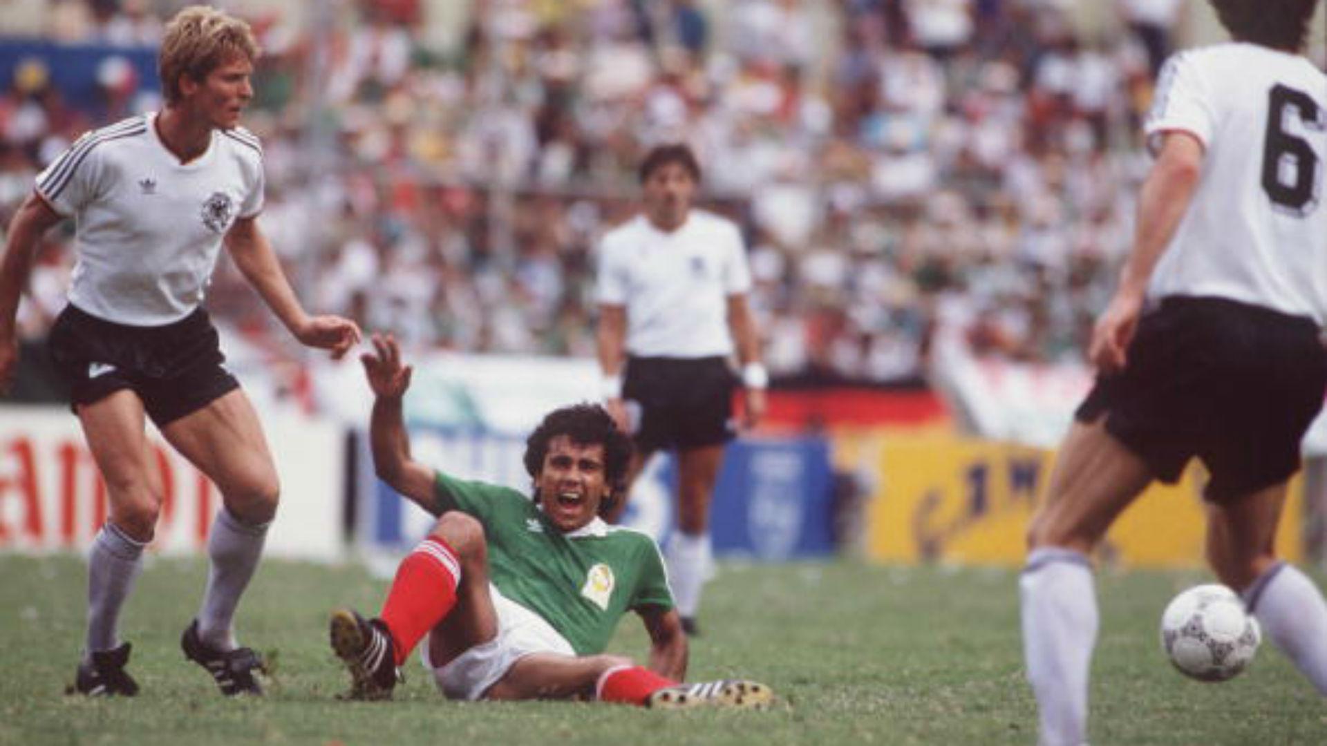 Hugo Sánchez México 1986 Copa del Mundo Alemania