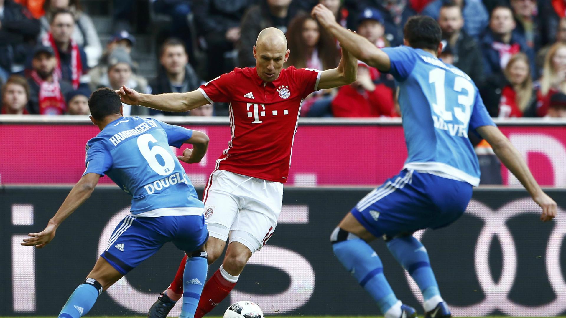 Arjen Robben, Bayern Munchen, Bundesliga, 02252017