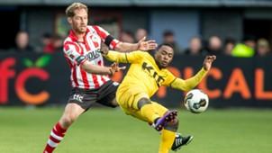 Michel Breuer, Abdul Ajagun, Sparta Rotterdam - Roda JC, Eredivisie, 11272016