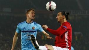 Wessel Dammers, Zlatan Ibrahimovic, Manchester United vs. Feyenoord, 11242016