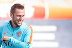 Stefan de Vrij, Oranje-training, 04102016