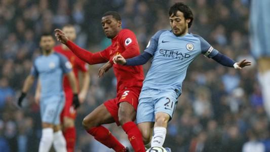Georginio Wijnaldum, David Silva, Manchester City - Liverpool, Premier League, 03192017