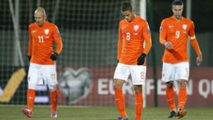 Ibrahim Afellay, Arjen Robben, Robin van Persie, Iceland - Netherlands Euro Qualifiers 13102014