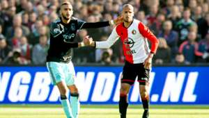 Hakim Ziyech, Karim El Ahmadi, Feyenoord, Ajax, Eredivisie, 23102016