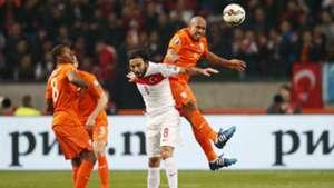 Wijnaldum Selçuk Inan Nigel de Jong Netherlands Turkey European Championship Qualifiers