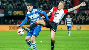 Danny Holla, Jens Toornsta, Feyenoord - PEC Zwolle, Eredivisie, 11202016