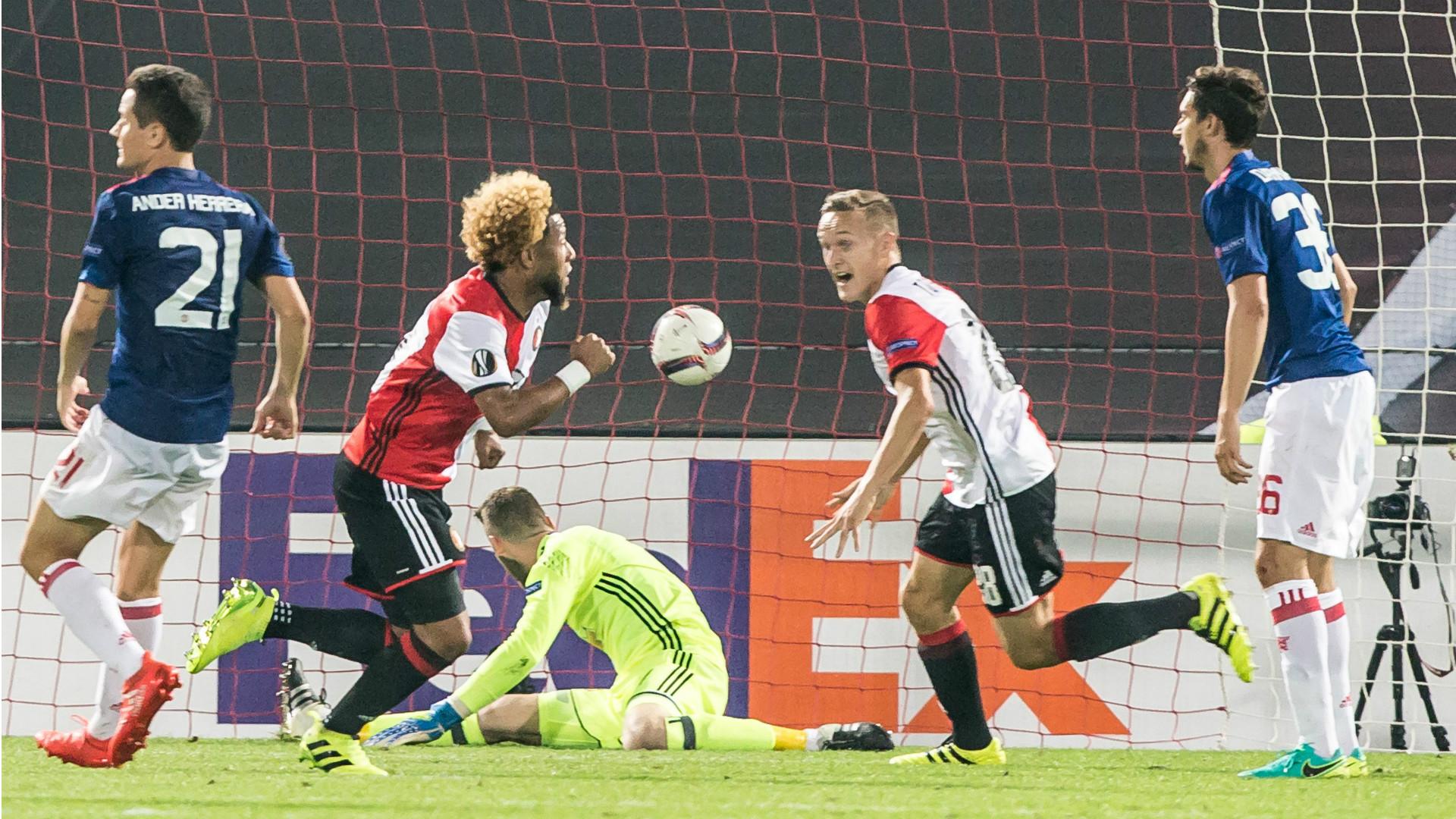 Tonny Vilhena, Feyenoord - Manchester United, Europa League 15092016