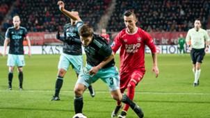 Joel Veltman, Bersant Celina, FC Twente - Ajax, Eredivisie, 12112016