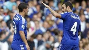 Eden Hazard, Cesc Fabregas, Chelsea Premier League