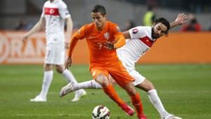 Ibrahim Afellay Selçuk Inan Netherlands Turkey European Championship Qualifiers
