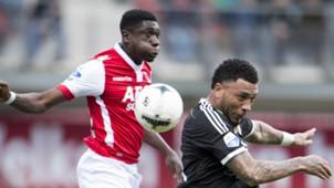 Derrick Luckassen - Colin Kazim-Richards, AZ - Feyenoord, Eredivisie 05042015
