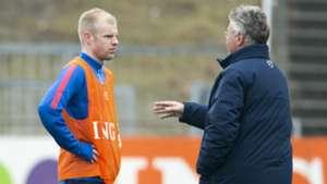 Davy Klaassen Guus Hiddink Netherlands Oranje
