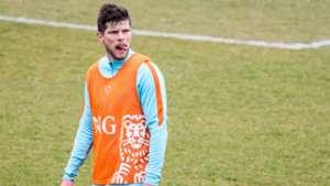 Klaas-Jan Huntelaar, training Nederlands elftal, 20160322