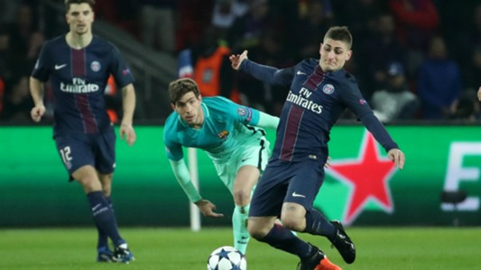 Marco Verratti, Sergi Roberto, Paris Saint-Germain - FC Barcelona, Champions League, 02142017