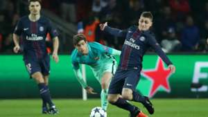Marco Verratti, Sergi Roberto, Paris Saint-Germain - FC Barcelona, Champions League, 02142017