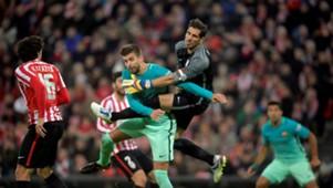 Gerard Pique, Gorka Iraizoz, Athletic Club - Barcelona, Copa del Rey, 01052017