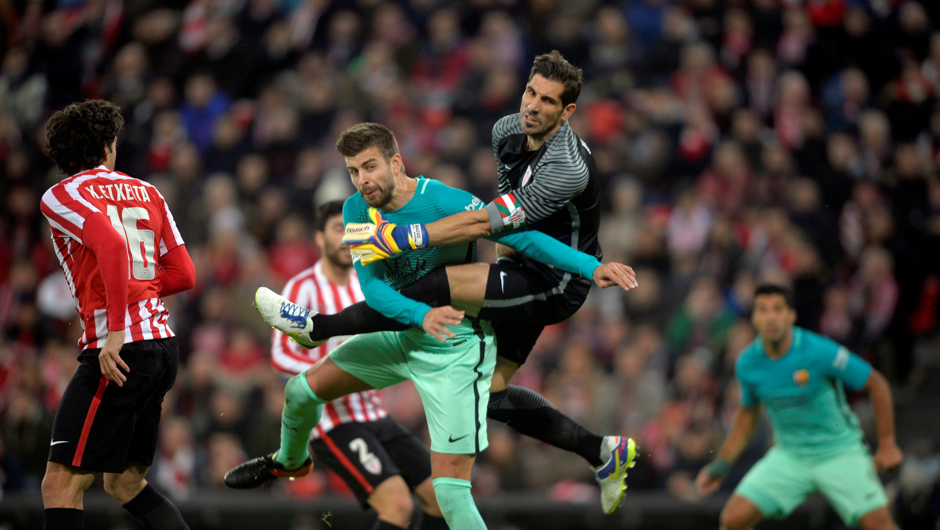 Gerard Pique, Gorka Iraizoz, Athletic Club - Barcelona, Copa del Rey, 01052017