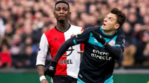 Eljero Elia, Santiago Arias, Feyenoord - PSV, Eredivisie, 02262017