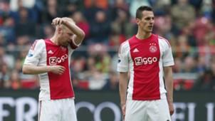 Davy Klaassen, Arkadiusz Milik, Ajax - FC Utrecht, 170416 Eredivisie