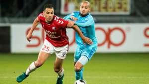 Sofyan Amrabat, Karim El Ahmadi, FC Utrecht - Feyenoord, Eredivisie, 11272016