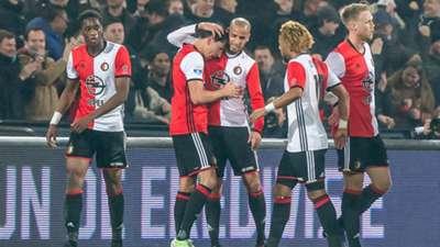 Terence Kongolo, Steven Berghuis, Karim El Ahamadi, Toni Vilhena, Nicolai Jorgensen, Feyenoord, Eredivisie, 12172016