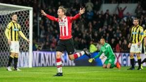 Siem de Jong, PSV - Vitesse, Eredivisie, 03182017