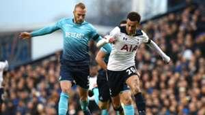 Mike van der Hoorn, Dele Alli, Tottenham Hotspur - Swansea City, Premier League, 12032016