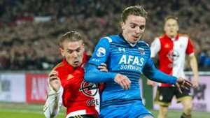 Sven van Beek - Ben Rienstra, Feyenoord - AZ, KNVB Beker 03032016