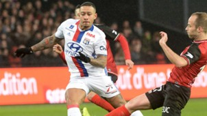 Memphis Depay Guingamp Lyon Ligue 1