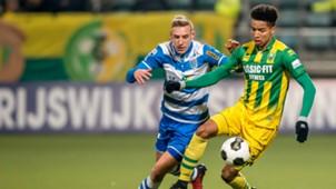 ADO Den Haag - PEC Zwolle, Nicolai Borkc-Madsen, Tyronne Ebuehi, 21012017