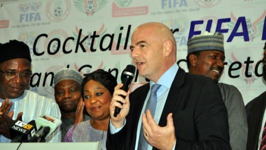 Gianni Infantino in Nigeria
