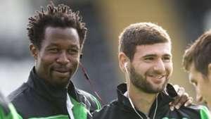 Efe Ambrose &  Nadir Ciftci of Celtic