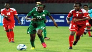 Ngozi Okobi against Kenya in Limbe