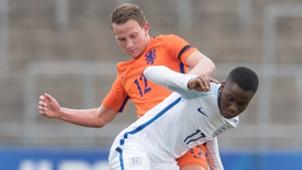 Ademola Lookman of England & Julian Lelieveld of the Netherlands
