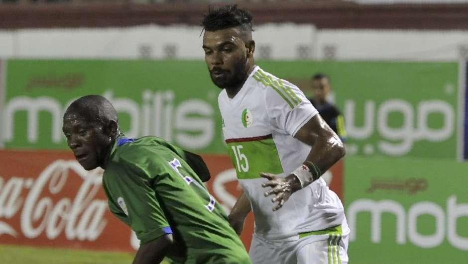 El Hillel Soudani of Algeria vs. Lesotho's Mafa Moremoholo