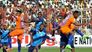 Action in Sunshine Stars vs Lobi Stars