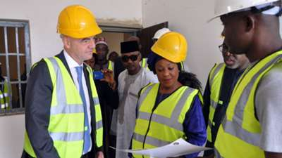 Gianni Infantino in Nigeria