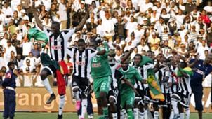 TP Mazembe players celebrate