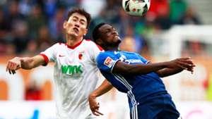 Abdul Rahman Baba of Schalke & Ji Dong-Won of Augsburg