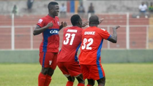 Ikorodu United celebrate goal against Nasarawa United