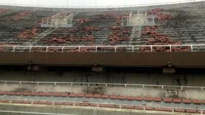 dilapidated National Stadium, Lagos