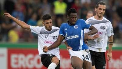 Abdul Rahman Baba of Schalke and Gianluca Serpa of Villingen