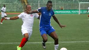 Kelly Kester,Enyimba in blue v Ocheme Udoh, Enugu Rangers.jpg