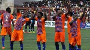 Sunshine Stars celebrate goal against Lobi Stars