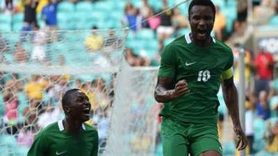 John Obi Mikel and Umar Sadiq of Nigeria